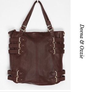 DEENA & OZZY UO BUCKLE  FAUX LEATHER TOTE